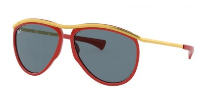 Ray-Ban 0RB2219 1243R5 OLYMPIAN AVIATOR Red/Gold - Blue