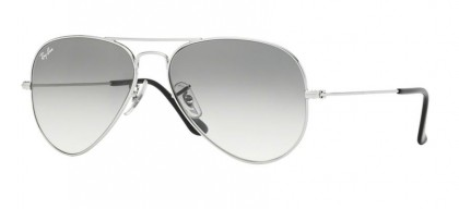 Ray-Ban 0RB3025 AVIATOR LARGE METAL 003/32 Silver - Crystal Grey Gradient