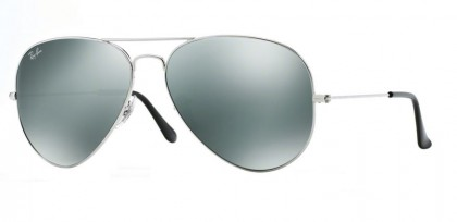 Ray-Ban 0RB3025 AVIATOR LARGE METAL 003/40 Silver - Crystal Grey Mirror