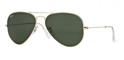 Ray-Ban 0RB3025 AVIATOR LARGE METAL L02/05 Gold - Grey Green