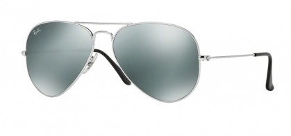 Ray-Ban 0RB3025 AVIATOR LARGE METAL W32/77 Silver - Crystal Grey Mirror