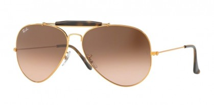 Ray Ban 0RB3029 OUTDOORSMAN II 9001/A5 Shiny Light Bronze - Pink Gradient Brown