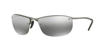 Ray Ban 0RB3542 029/5J Matte Gunmetal - Grey Mirror Silver Polarized