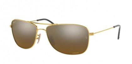 Ray Ban 0RB3543 001/A3  Gold - Brown Mirror Gold Grad Polar