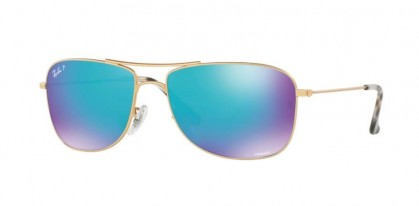 Ray Ban 0RB3543 112/A1 Matte Gold - Blue Flash Polarized