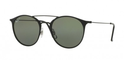 Ray Ban 0RB3546 186/9A Black Top Matte Black - Green Poalrized