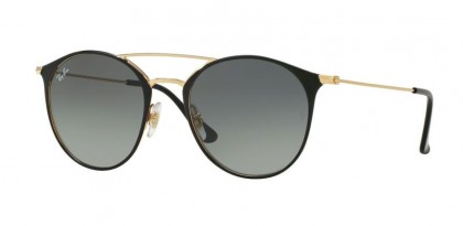 Ray Ban 0RB3546 187/71 Gold Top Black - Grey Gradient