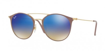 Ray Ban 0RB3546 9011/8B Gold Top Beige - Blue Flash Gradient