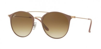 Ray Ban 0RB3546 907151 Copper Top on Beige - Clear Gradient Brown