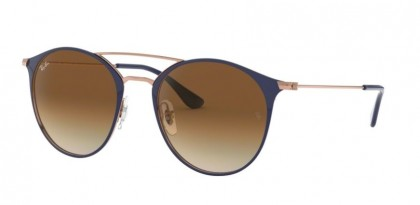 Ray Ban 0RB3546 917551  Copper On Top Dark Blue - Clear Gradient Brown