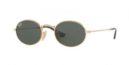 Ray Ban 0RB3547N 001 OVAL Gold - Green
