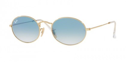 Ray Ban 0RB3547N 001/3F OVAL Arista - Crystal White Gradient Blue