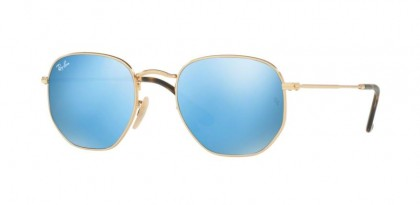 Ray Ban 0RB3548N 001/9O Gold - Light Blue