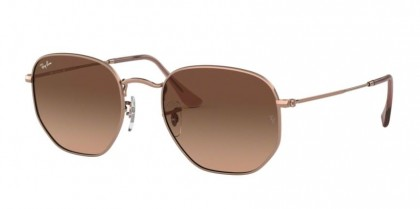 Ray Ban 0RB3548N 9069A5 HEXAGONAL Copper - Pink Gradient Brown