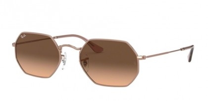 Ray Ban 0RB3556N 9069A5 OCTAGONAL Copper - Pink Gradient Brown