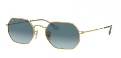 Ray Ban 0RB3556N 91233M OCTAGONAL Gold - Blue Gradient Grey