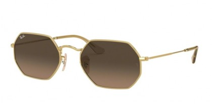 Ray Ban 0RB3556N 912443 OCTAGONAL Gold - Brown Gradient Grey