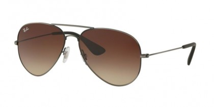 Ray Ban 0RB3558 913913  Matte Black Antique - Brown Gradient Dark Brown