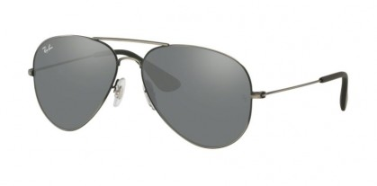 Ray Ban 0RB3558 91396G  Matte Black Antique - Grey Mirror Silver