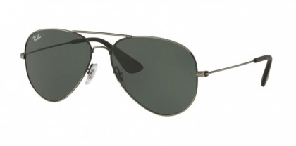 Ray Ban 0RB3558 913971  Matte Black Antique - Dark Green