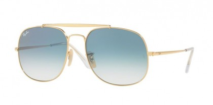 Ray-Ban 0RB3561 THE GENERAL 001/3F Gold - Blue Gradient