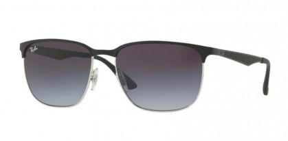 Ray Ban 0RB3569 9004/8G Silver Top Black - Grey Gradient Dark Grey