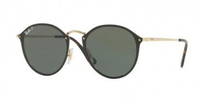 Ray Ban 0RB3574N 001/9A BLAZE ROUND Gold - Dark Green Polar