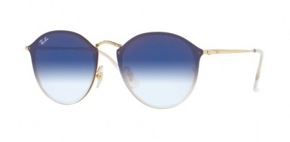 Ray Ban 0RB3574N 001/X0 BLAZE ROUND Gold - Clear Gradient Blue Mirror Red