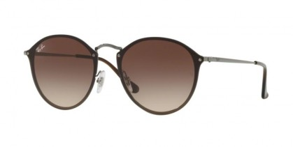 Ray Ban 0RB3574N 004/13 BLAZE ROUND Gunmetal - Brown Gradient