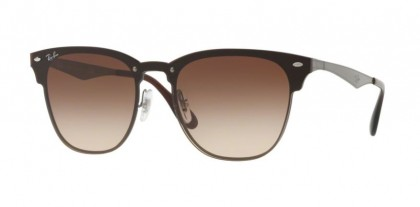 Ray Ban 0RB3576N 041/13 BLAZE CLUBMASTER Gunmetal Striped - Brown Gradient