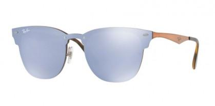 Ray-Ban 0RB3576N BLAZE CLUBMASTER 9039/1U Bronze - Blue Gray Mirror