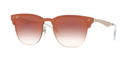 Ray Ban 0RB3576N 9039V0 BLAZE CLUBMASTER Brushed Copper - Clear Gradient Red Mirror Red