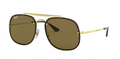 Ray Ban 0RB3583N 001/73 BLAZE THE GENERAL Gold - Dark Brown