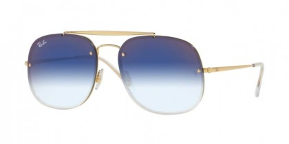 Ray Ban 0RB3583N 001/X0  Gold - Clear Gradient Blue Mirror Red