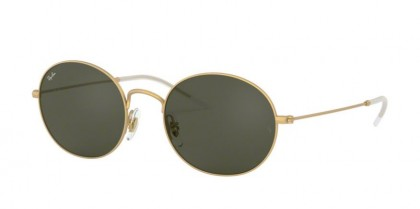Ray Ban 0RB3594 901371  Rubber Gold - Dark Green