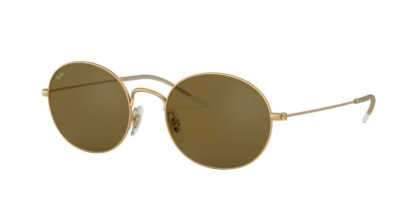 Ray Ban 0RB3594 901373  Rubber Gold - Dark Brown