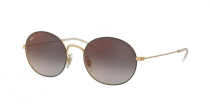 Ray-Ban 0RB3594 9114U0 Rubber Gold On Top Black - Grey Gradient Mirror Red