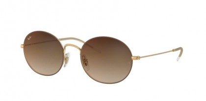 Ray Ban 0RB3594 9115S0  Rubber Gold On Brown - Brown Gradient Mirror Red