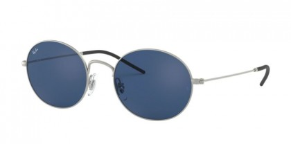 Ray Ban 0RB3594 911680  Rubber Silver - Dark Blue
