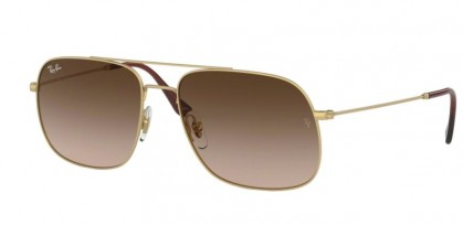 Ray Ban 0RB3595 901313 ANDREA Rubber Gold - Brown Gradient Dark Brown