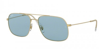 Ray Ban 0RB3595 901380 ANDREA Rubber Gold - Light Blue