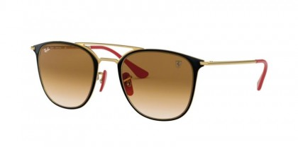 Ray Ban 0RB3601M F02151  Gold On Top Black - Clear Gradient Brown