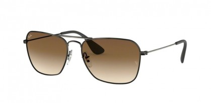 Ray Ban 0RB3610 913913  Matte Black Antique - Brown Gradient Dark Brown
