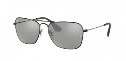 Ray Ban 0RB3610 91396G  Matte Black Antique - Grey Mirror Silver
