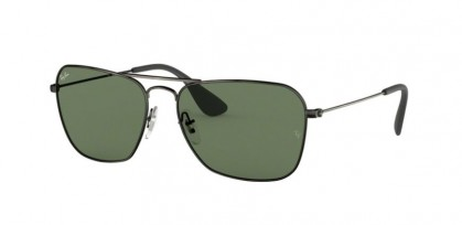 Ray Ban 0RB3610 913971  Matte Black Antique - Dark Green