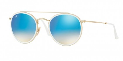 Ray Ban 0RB3647N 001/4O Gold - Gradient Brown Mirror Blue