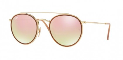 Ray Ban 0RB3647N 001/7O Gold - Gradient Brown Mirror Pink