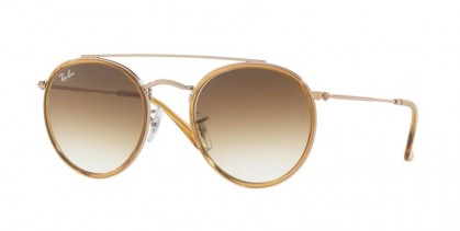 Ray Ban 0RB3647N 907051 Light Brown - Clear Gradient Brown