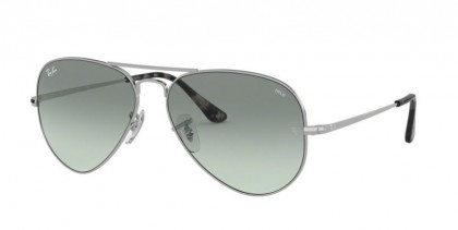 Ray Ban 0RB3689 9149AD AVIATOR METAL II Silver - Photo Azure Gradient Blue