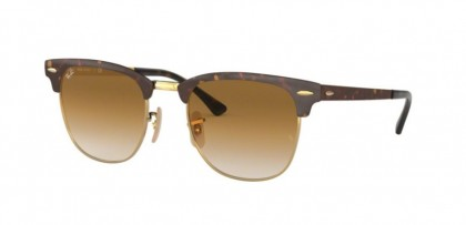Ray Ban 0RB3716 900851 CLUBMASTER METAL Gold Top Havana - Clear Gradient Brown